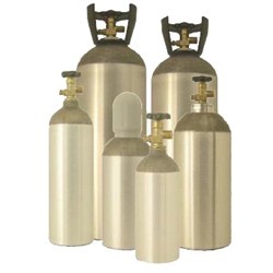 CO2 Cylinder, 5 Lbs CO2 Capacity, with w/CGA320 Valve 1.125-12 UNF-2B Thread